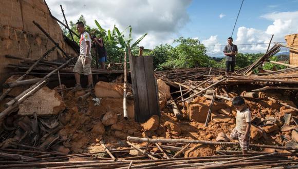 Según el reporte del COEN, el sismo en Loreto dejó 228 viviendas inhabitables y 284 viviendas afectadas. (GEC)
