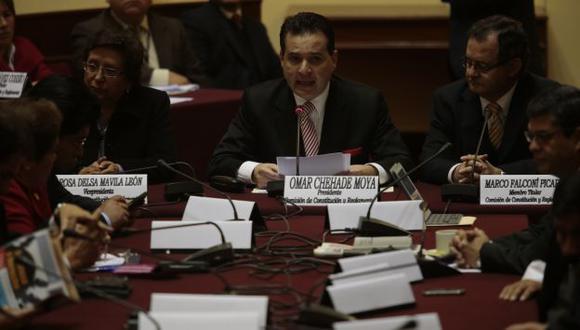 Omar Chehade preside la Comisión de Constitución del Congreso. (Perú21)