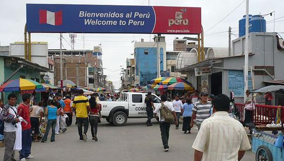 Urgen controles. Paso fronterizo de Tumbes es de libre tránsito para migrantes de África. (Andina)
