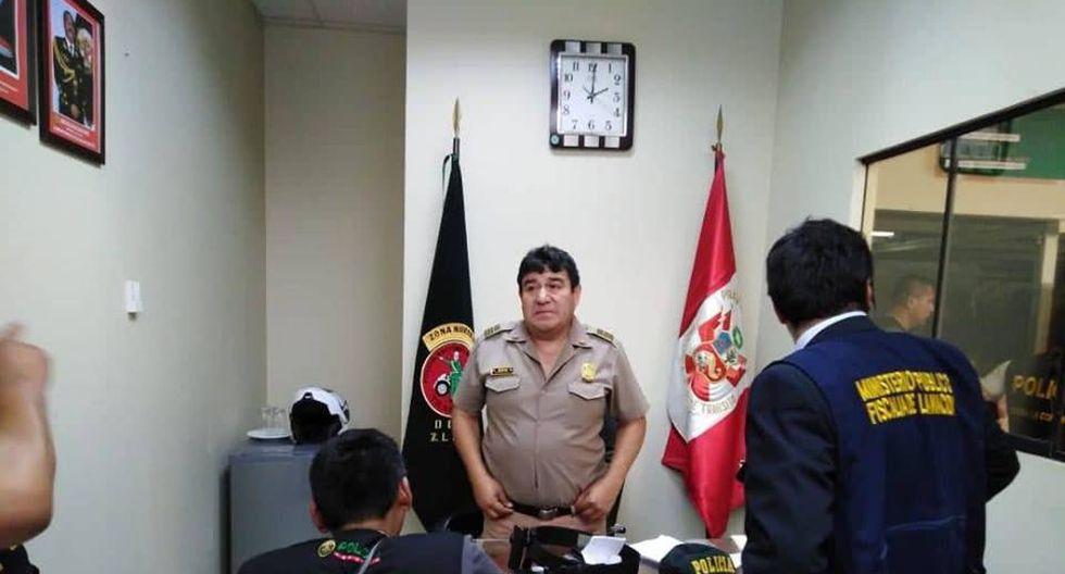 Entre los intervenidos figura el omandante PNP Fortunato Ñope Pajuelo, quien se desempeña como el jefe policial de la unidad. (Foto: Difusión)