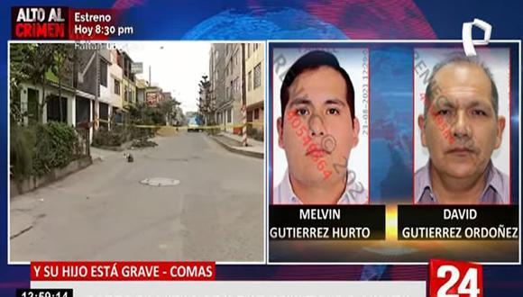 David Gutiérrez Ordóñez se desplazaba junto a su hijo Melvin Gutiérrez Hurto cuando fueron asaltados y baleados por delincuentes. (24 Horas)