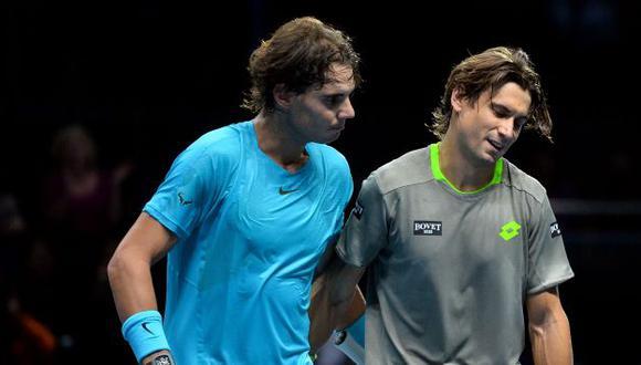 Rafael Nadal y David Ferrer realizarán una gira por Sudamérica. (AFP)