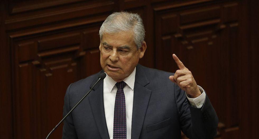 El primer ministro, César Villanueva, destacó el debate en el que participó este lunes en la Comisión de Constitución. (Foto: USI)