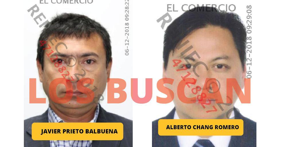 Javier Prieto y Alberto Chang continúan siendo buscados por la Policía