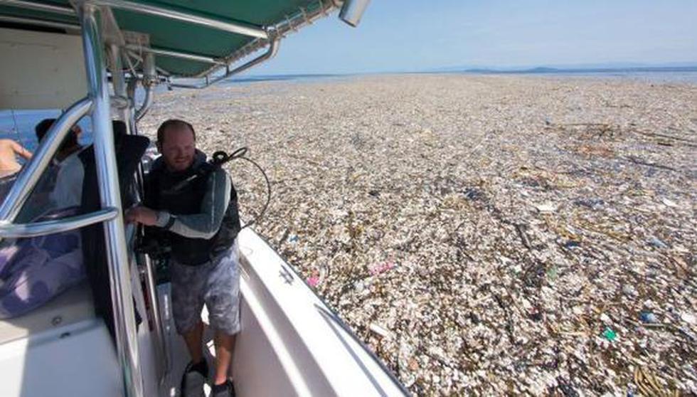 ¿Cuál es la relación entre la isla de basura del Pacífico y unas nuevas laptops HP? (Facebook)