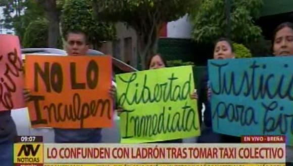 Esposa de ciudadano detenido contó que su cónyuge fue secuestrado por asaltantes, quienes lo obligaron a retirar dinero de su tarjeta (Foto: ATV Noticias)
