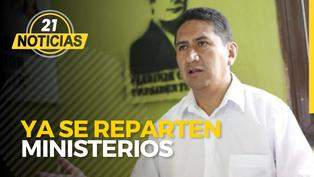 Vladimir Cerrón ya está repartiendo ministerios