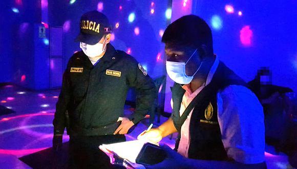 Cusco: intervienen y clausuran locales nocturnos que no cumplían con normas de bioseguridad (Foto: Ministerio Público)