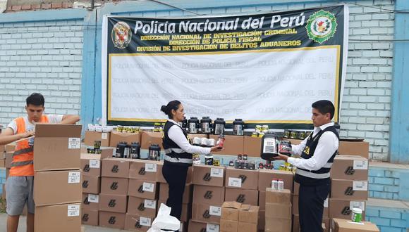 Mercadería sin documentación incautada por la Policía Fiscal. (Foto: PNP)