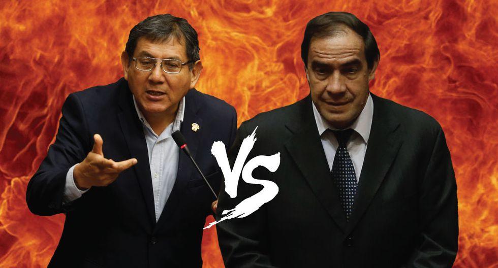Ángel Neyra y Lescano discuten en Comisión de Constitución. (Perú21)