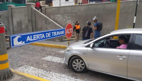 Municipalidad de Miraflores cierra el circuito de playas ante alerta de Tsunami