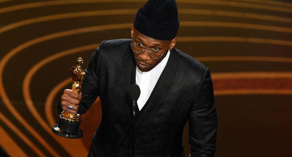 """El actor Mahershala Ali se lleva el Oscar a Mejor Actor de Reparto por """"Green Book"""".  (Fotos: AFP)"""