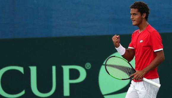 Juan Pablo Varillas iniciará la serie contra el suizo Sandro Ehrat el viernes por la Copa Davis. (EFE)