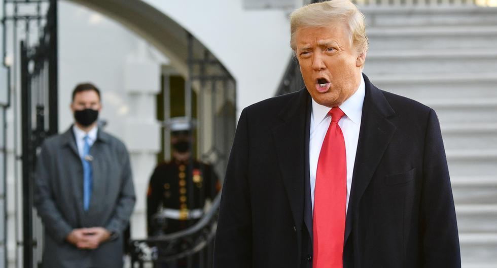 Donald Trump abandonó este miércoles la Casa Blanca por última vez como gobernante. (Foto: AFP)