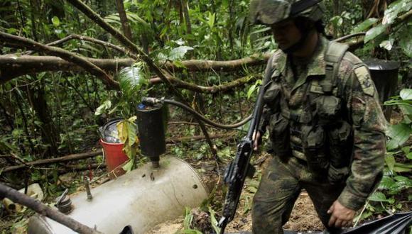 Los militares llegaron a un campamento donde se elaboraban artefactos explosivos(AP)