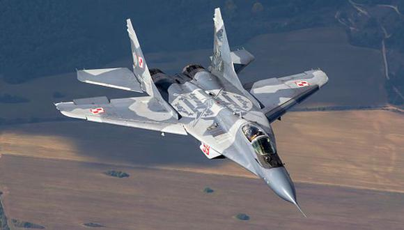 Modelo de caza ruso MiG-29M2. (Getty)