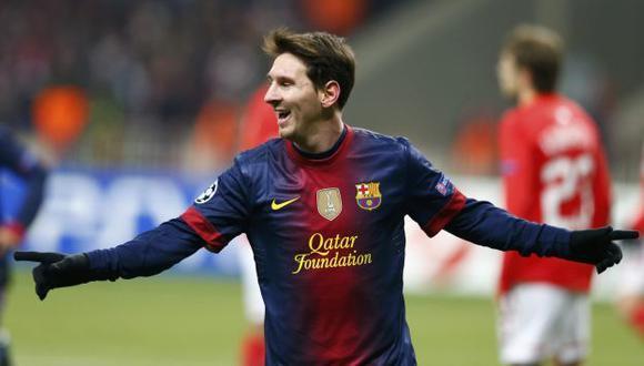 Lionel Messi lleva marcados 194 goles en la liga española, y en 2012 contabiliza 90 dianas en todas las competiciones. (Reuters)