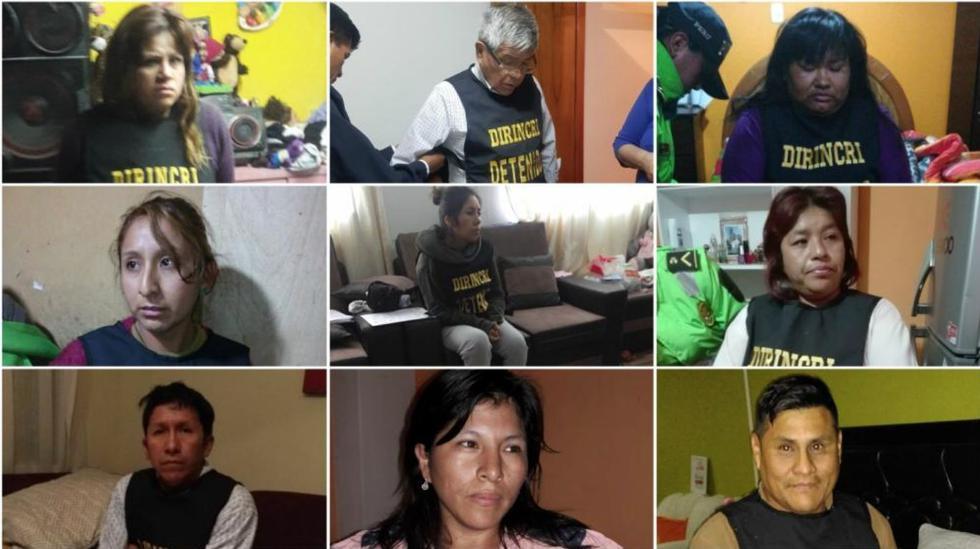 Arequipa: Estos son los implicados en la banda 'Los Desalmados del Tráfico Humano' (Ministerio Público)