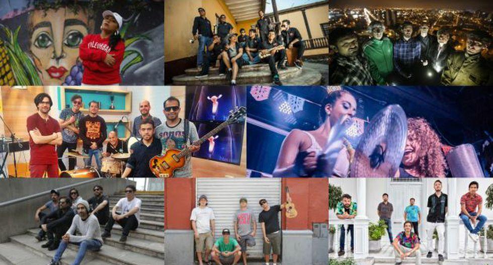 Ocho de las 12 bandas que son parte del Festival Descabellado.