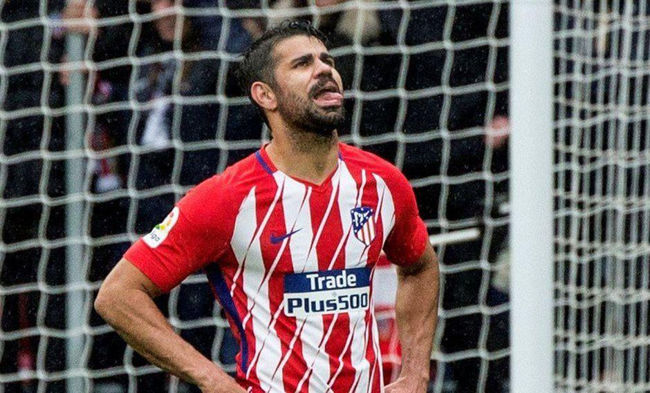 Diego Costa debe cumplir su castigo de 8 fechas y con ello se le terminó la temporada con el Atlético de Madrid. (Foto: EFE)