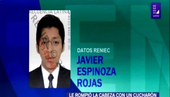 Familiares de la agraviada indicaron que esta sería la tercera vez que Javier Espinoza Rojas (24) golpea a su mamá, quien siempre fue maltratada por el tema de la comida. (Frecuencia Latina)