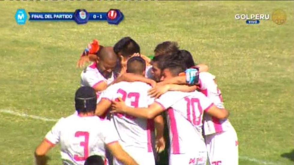 Universitario de Deportes y la celebración al final del partido. (Video: Gol Perú)