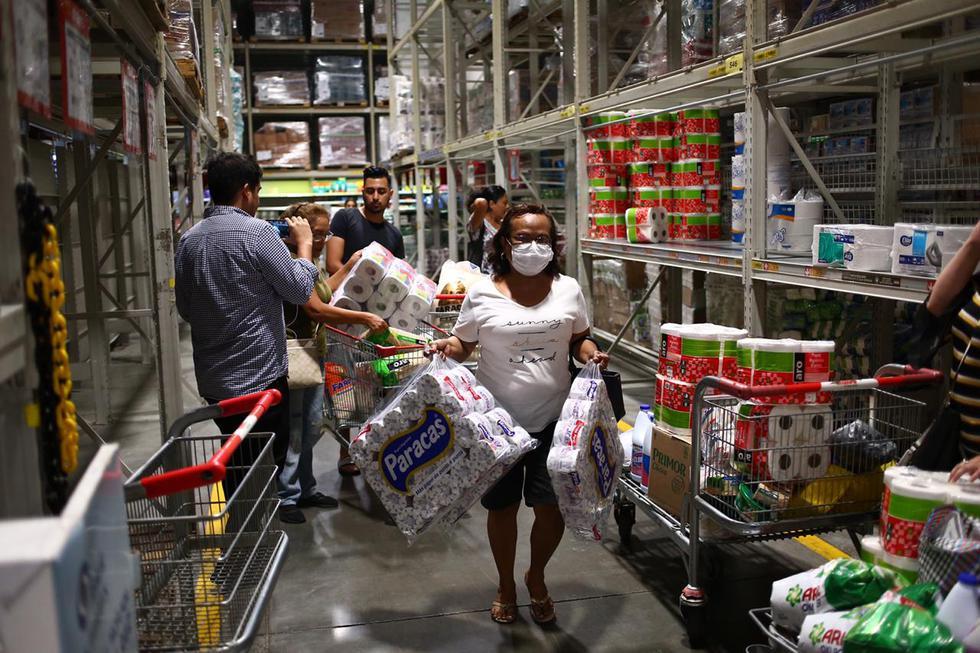 Supermercados disponen limitar venta de productos de higiene ante demanda por coronavirus. (Hugo Curotto)