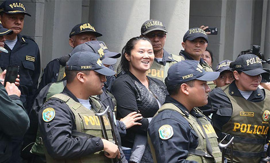 Keiko Fujimori deberá cumplir 36 meses de prisión preventiva en penal de Chorrillos. (Foto: Agencia Andina)