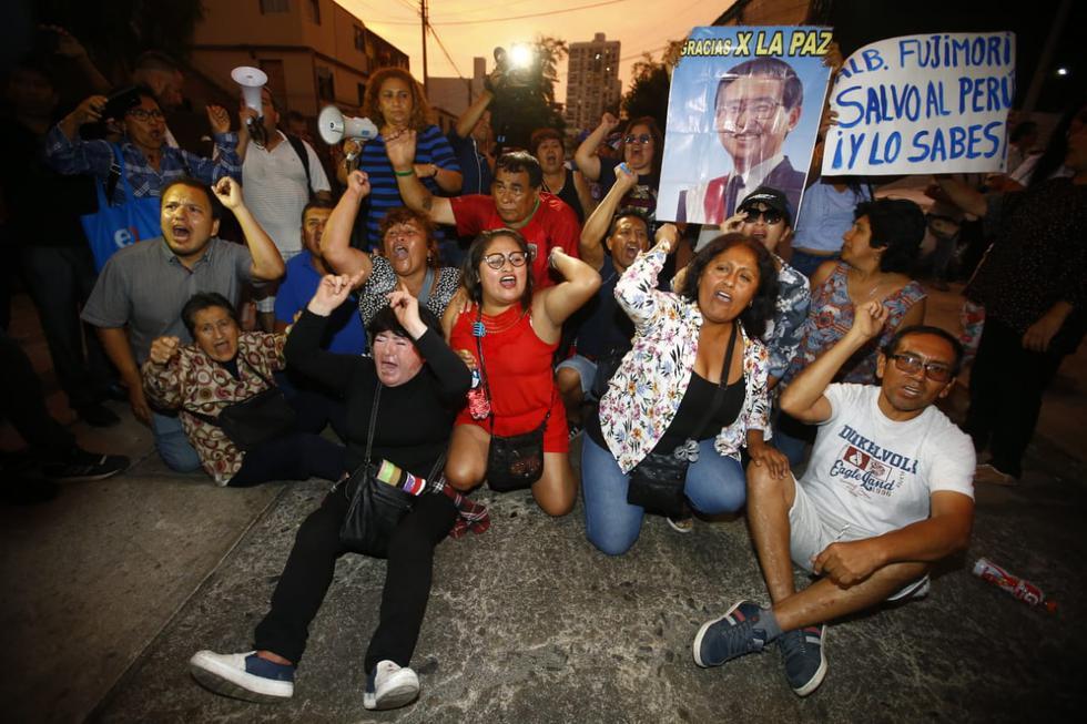 Alberto Fujimori fue trasladado al penal de Barbadillo en la Diroes. (Foto: Francisco Neyra / GEC)