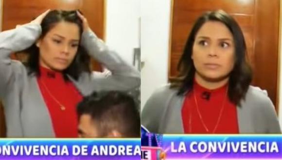 Andrea San Martín y su peculiar reacción luego que Sebastián Lizarzaburu se inclinara ante ella. (Foto: Captura de video)