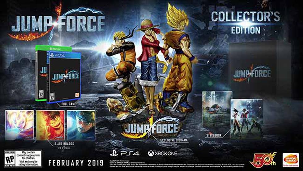 Jump Force llegará el próximo año a PS4, Xbox One y PC.