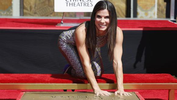 Sandra Bullock en el Paseo de la Fama. (Reuters)