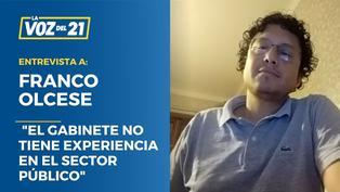 """Franco Olcese: """"Parece que el gabinete no tiene experiencia en el sector público"""""""