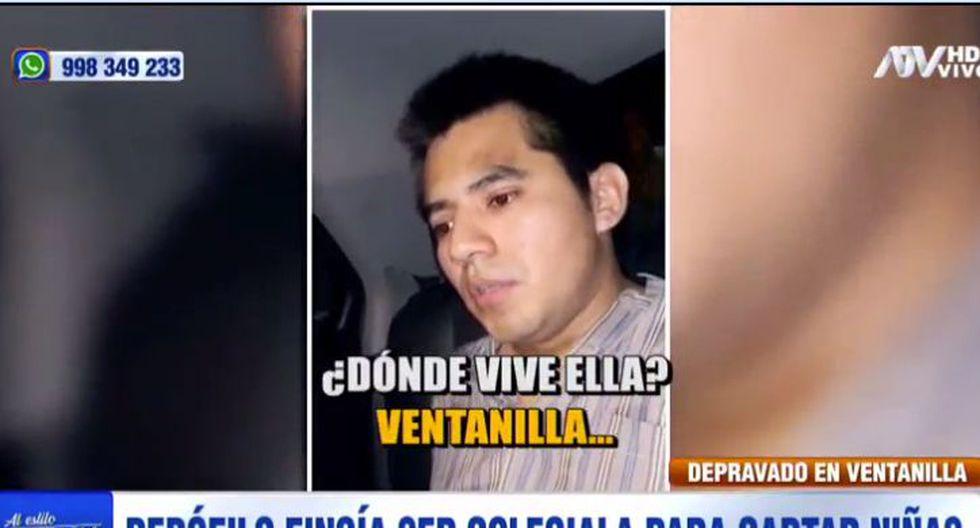 Pedófilo fue detenido cuando intentaba abusar de una de sus víctimas. (Captura)