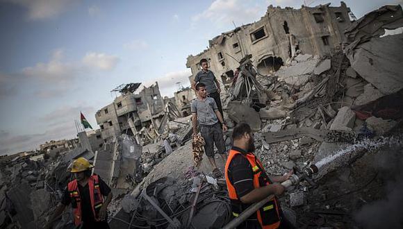 Devastación. En Gaza, cerca de medio millón de personas han sido desplazadas por los combates. (EFE)