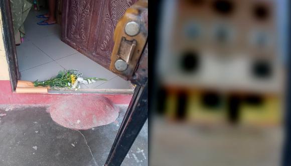 Chiclayo: Amenazan con balas y ramo de flores a mujer, y sospecha de su cuñada (Foto: PNP)