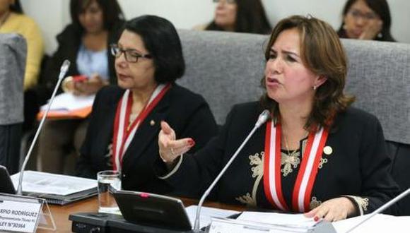 Magistrada Elvia Barrios Alvarado acudió a la Comisión de la Mujer. (Congreso)