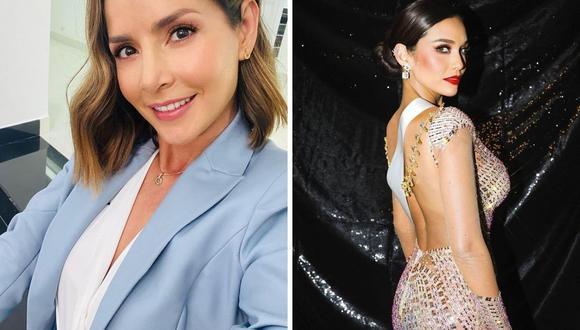 """Carmen Villalobos afirmó que su favorita para el """"Miss Universo 2021"""" fue la peruana Janick Maceta. (Foto: Instagram @carmenvillalobos / @janick.maceta)."""