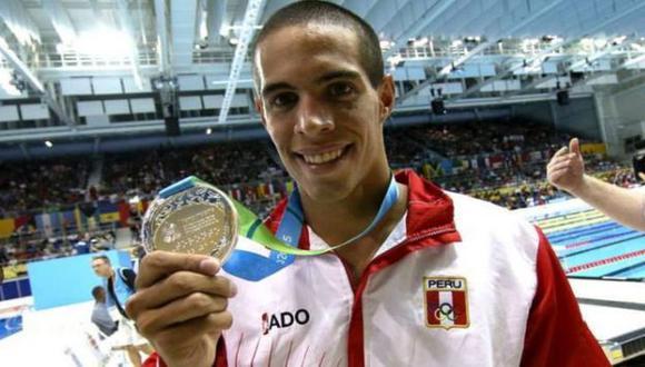 Mauricio Fiol obtuvo la medalla de plata en la final de los 200 metros mariposa de los Juegos Panamericanos 2015. (Andrés Lino/Andina)