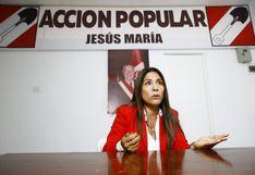 """Acción Popular sobre Mónica Saavedra: """"Deberá responder y aclarar denuncia del JNE"""""""