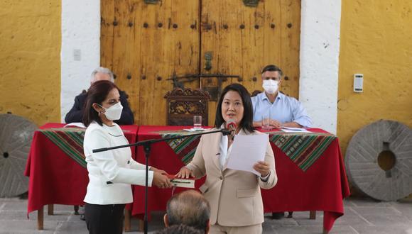 Keiko Fujimori realizó un juramento por la democracia en Arequipa (Eduardo Barreda/GEC).
