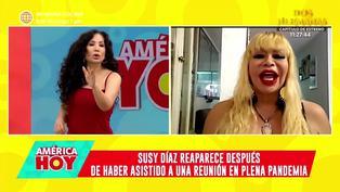 Susy Diaz enfurece tras ser consultada sobre su asistencia en fiesta durante cuarentena