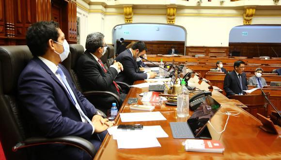 Presentación del premier Vicente Zeballos en el Parlamento. (Congreso)