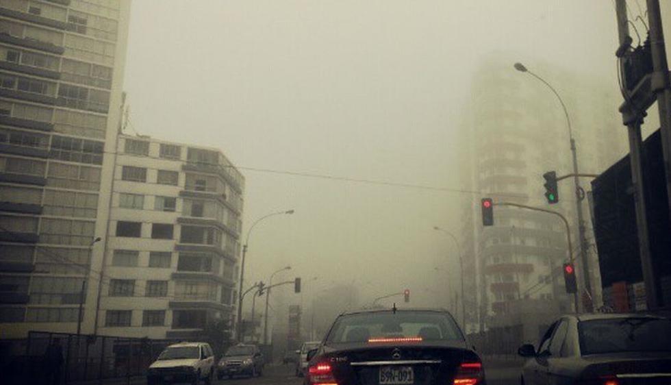 Tras varios días de sol, Lima amaneció con una densa neblina. (instagram.com/sandraop3)
