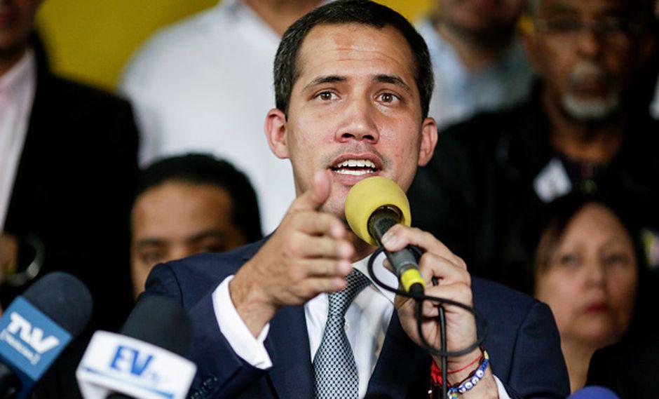 """""""Para los panameños y para usted, señorpresidente electo Laurentino Cortizo, solo tenemos deseos de éxitos"""", fueron las palabras de Guaidó hacia Cortizo. (GETTY)"""