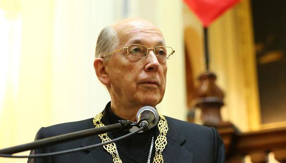 El cardenal Juan Luis Cipriani se pronunció a través de un comunicado difundido por internet. (Foto: USI)