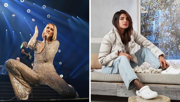 "Céline Dion y Priyanka Chopra protagonizarán ""Text for you"" de Sony. (Foto: Instagram / @priyankachopra / @celinedion)."
