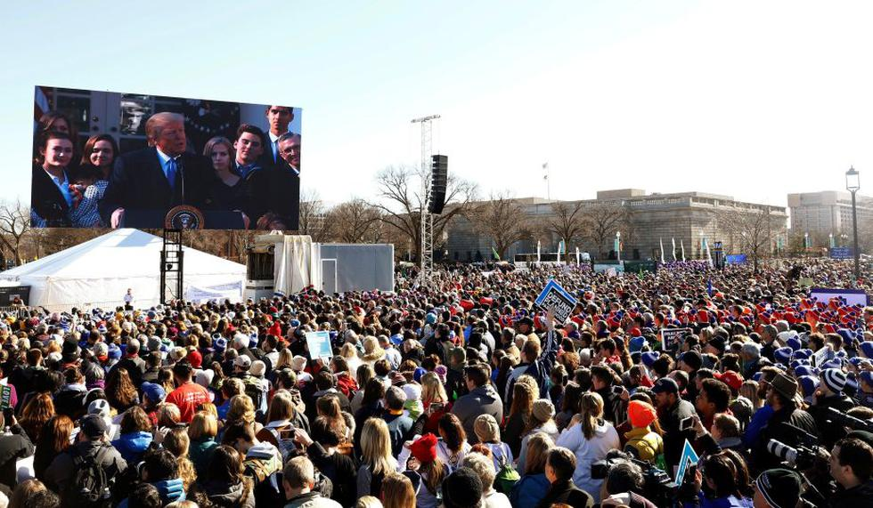 ¿Qué dijo Donald Trump en su discurso por la 'Marcha por la vida' de Estados Unidos? (Reuters)