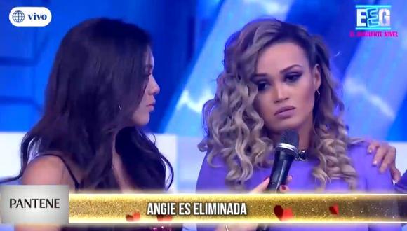 """Angie Arizaga es la nueva eliminada de """"Divas"""". (Foto: Captuta América TV)"""
