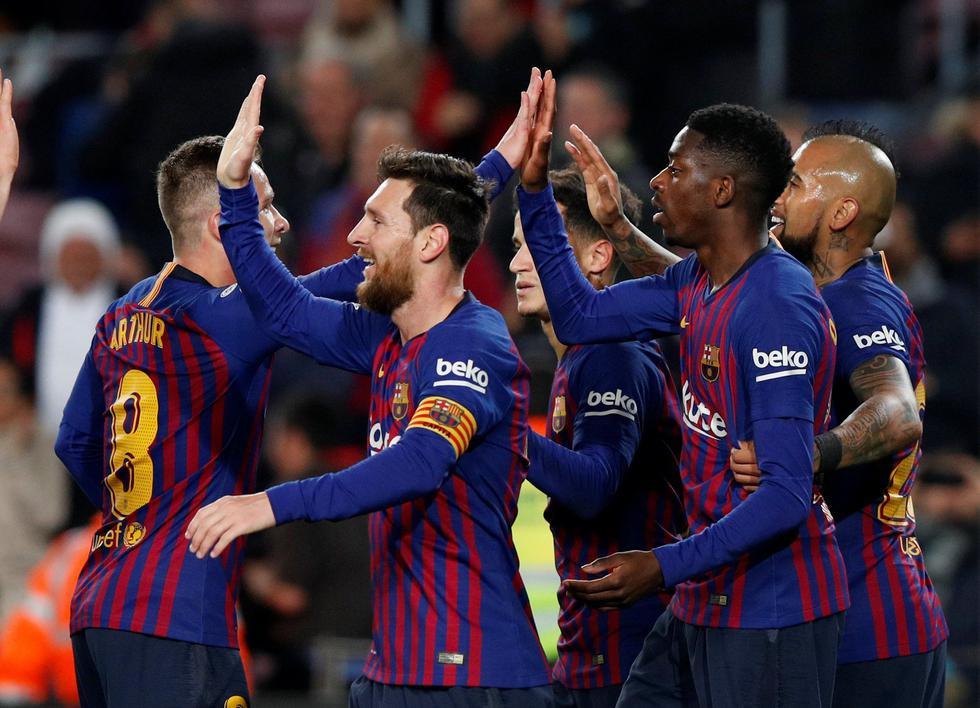 Barcelona avanzó a los cuartos de final en la Copa del Rey tras golear 3-0 al Levante. (Reuters)